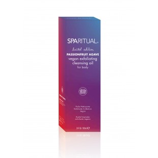 SpaRitual Passionfruit Agave vegan exfoliating cleansing oil for body