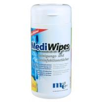 MediWipes Reinigungs- und Desinfektionstücher ohne Alkohol (Lemon) Spenderdose