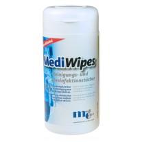 MediWipes Reinigungs- und Desinfektionstücher ohne Alkohol (Neutral) Spenderdose