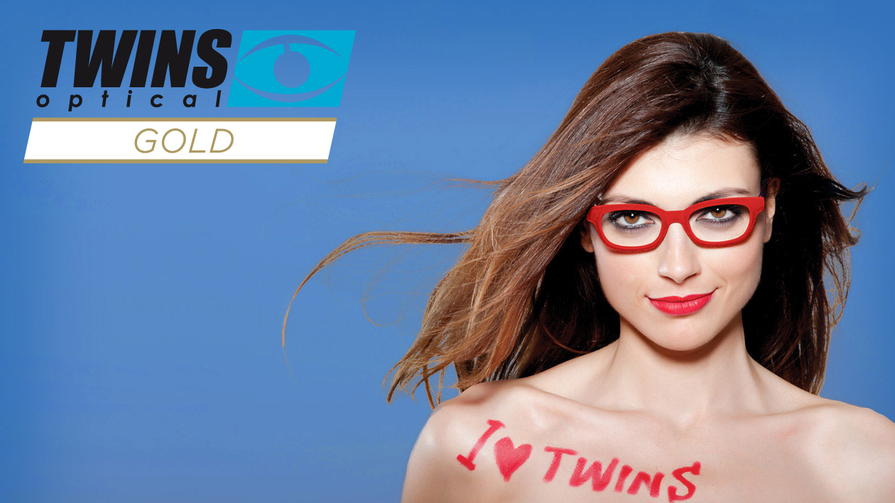 Twins optical Gold Lesebrillen