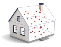 Luftverschmutzung innerhalb des Haus