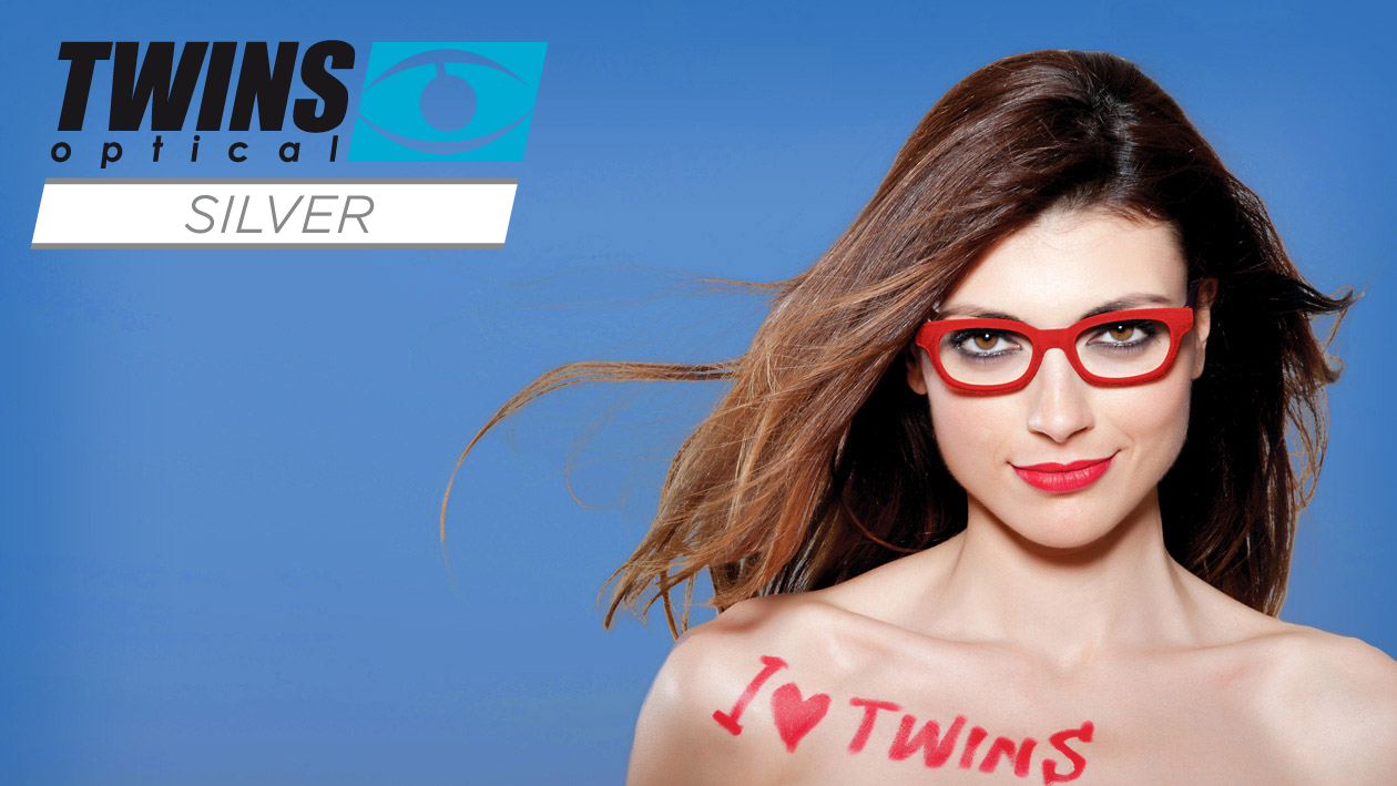 Twins optical Silver Lesebrillen